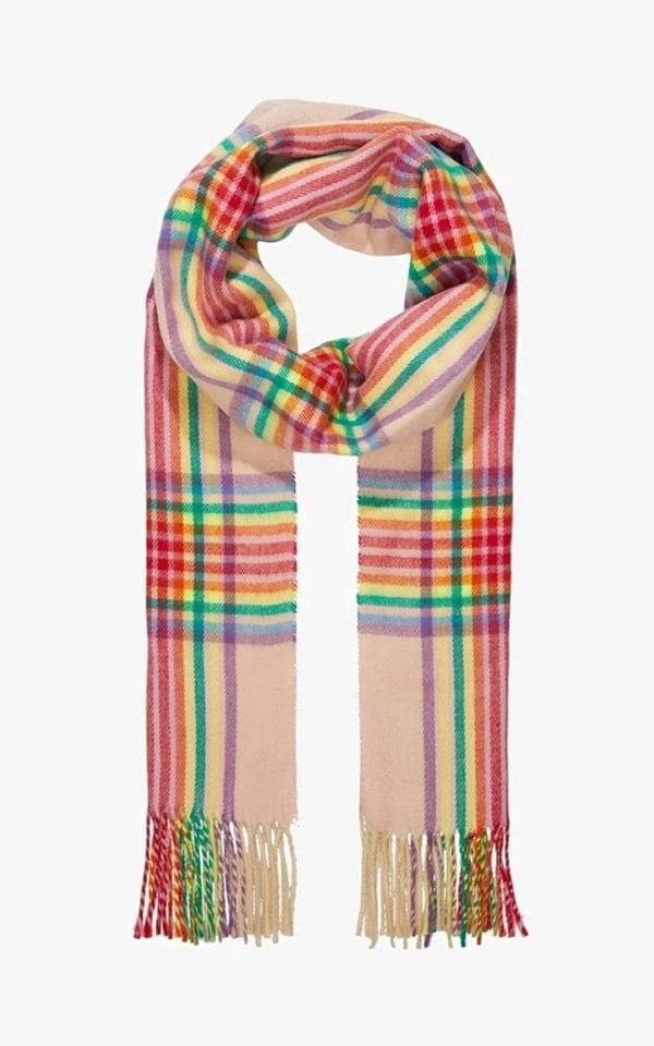 Topshop Regenbogen-Schal bei Zalando (Hey Pretty Fashion Flash)