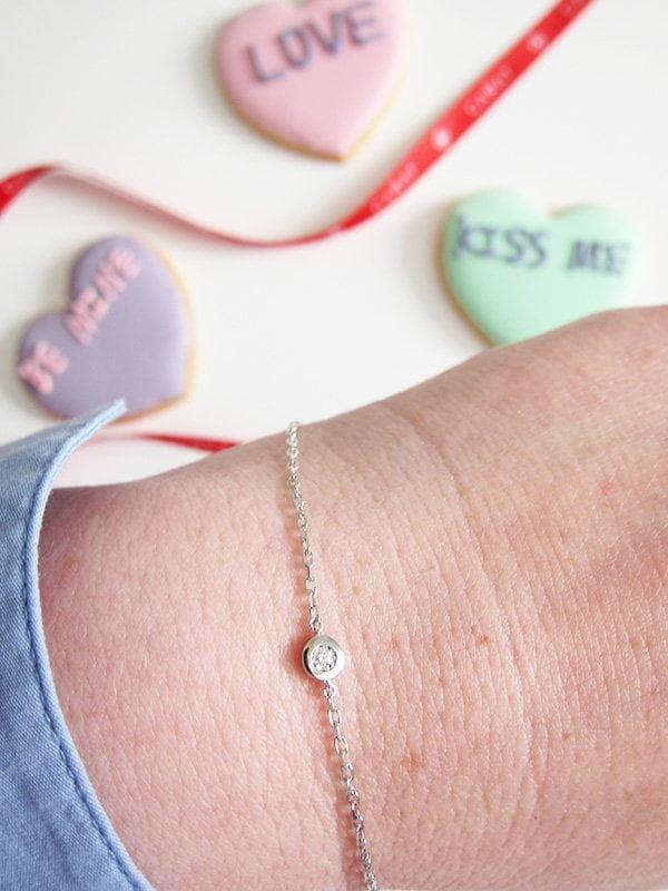 Giveaway auf Hey Pretty: Diamonds by Carat Armband Silber mit Diamant
