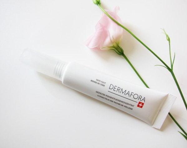 Dermafora Gezieltes Pigmentflecken-Konzentrat (neue Schweizer Hautpflegemarke), Review auf Hey Pretty