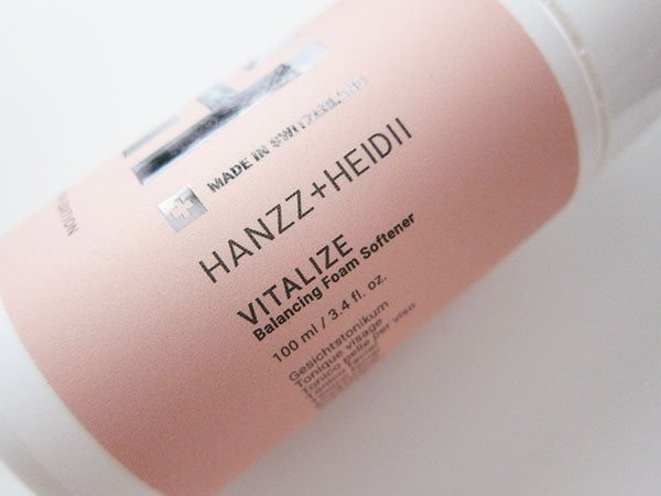 Hans and Heidi Vitalize Balancing Foam Softener (Hey Pretty Beauty Blog Review)