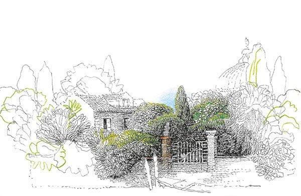 Un Jardin sur la Lagune – Illustration der Umverpackung von Safet Zec (PR Visual von Hermès), Duft-Review auf Hey Pretty