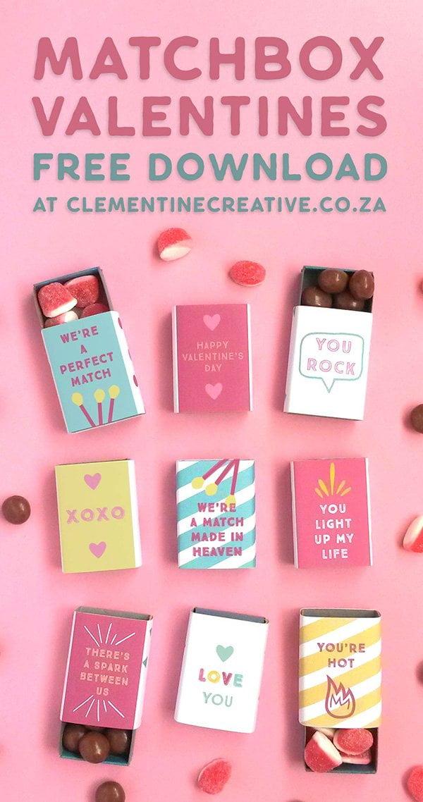 10 herzige DIY-Projekte zum Valentinstag: Free Valentine Matchbox Covers, Image Copyright: Clementine Creative