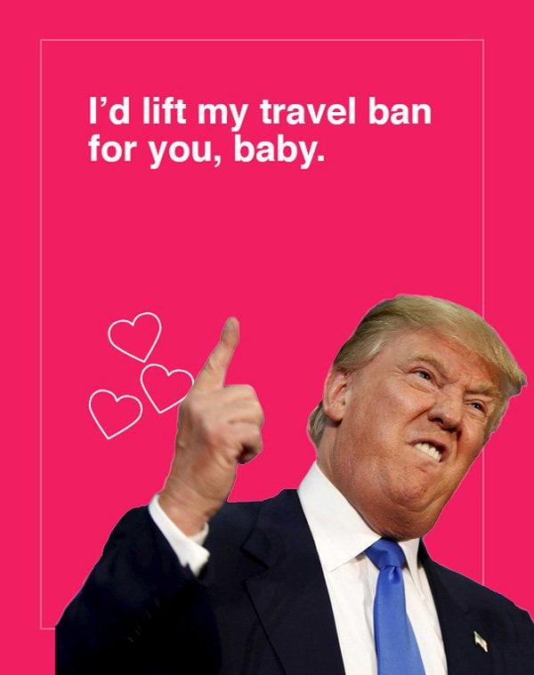 Herzige DIY-Projekte für Valentinstag: Donald Trump Meme von Geniememe (Hey Pretty)