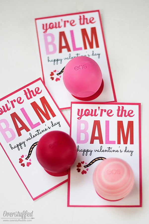 You're The Balm Valentine's Day Card von The Overstuffed Life (Herzige DIY-Projekte und Karten für den Valentinstag auf Hey Pretty)