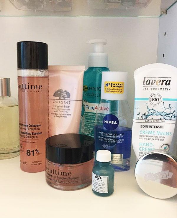 Abend Hautpflegeroutine (Vera Schönenberger in Show Me Your Badezimmerschränkli auf Hey Pretty)