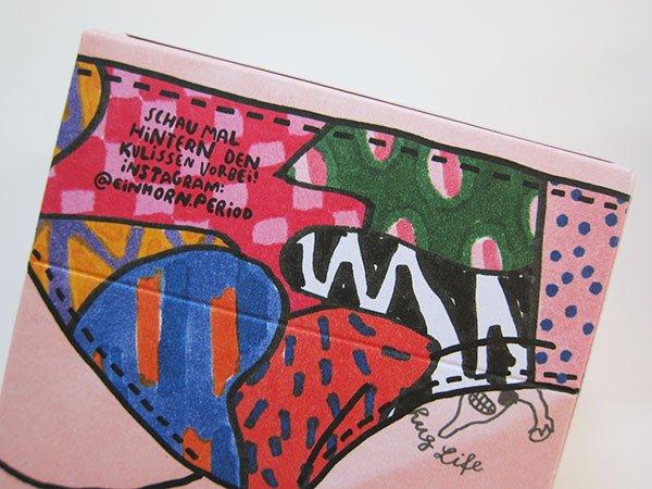 Einhorn Period: Slipflip Slipeinlagen, Detailaufnahme der supercoolen Verpackung (Hey Pretty Beauty Blog)