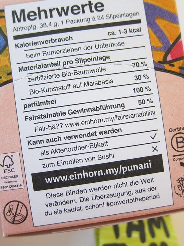 Mehrwerte der Einhorn Slip Flip Slipeinlagen (Verpackungs-Detail), Hey Pretty Beauty Blog Brand Love