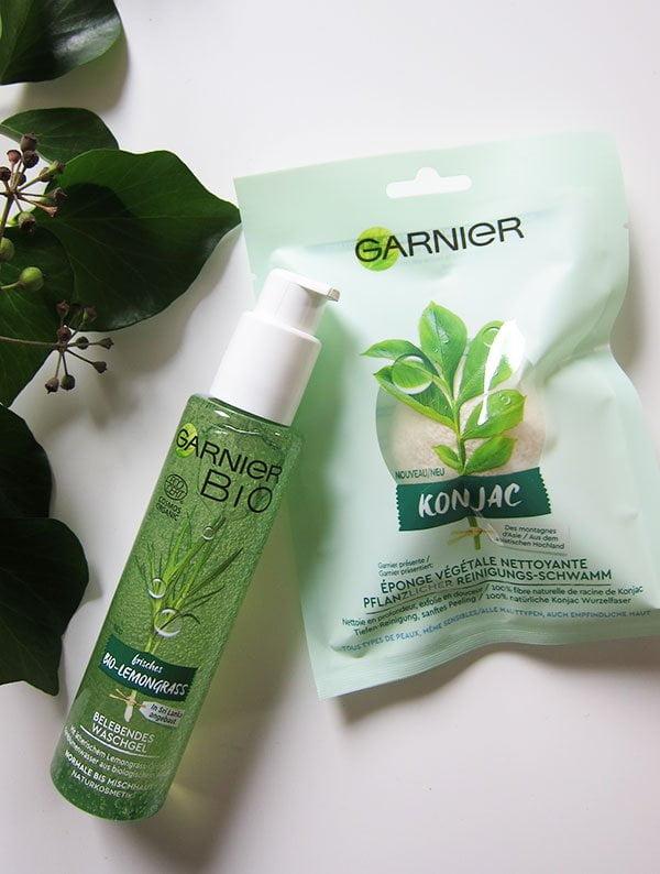 Garnier Bio Belebendes Waschgel mit Lemongrass und Konjac Reinigungsschwamm (Hey Pretty Review)