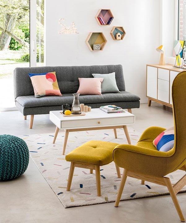Schlafcouch Amagona von la Redoute Interiors (Nordic Style fürs kleine Budget auf Hey Pretty)