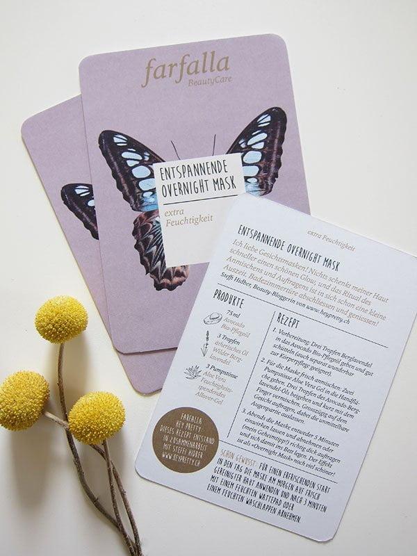 Farfalla DIY Rezept by Hey Pretty: Entspannende Overnight Mask für extra Feuchtigkeit (Hey Pretty Beauty Blog)