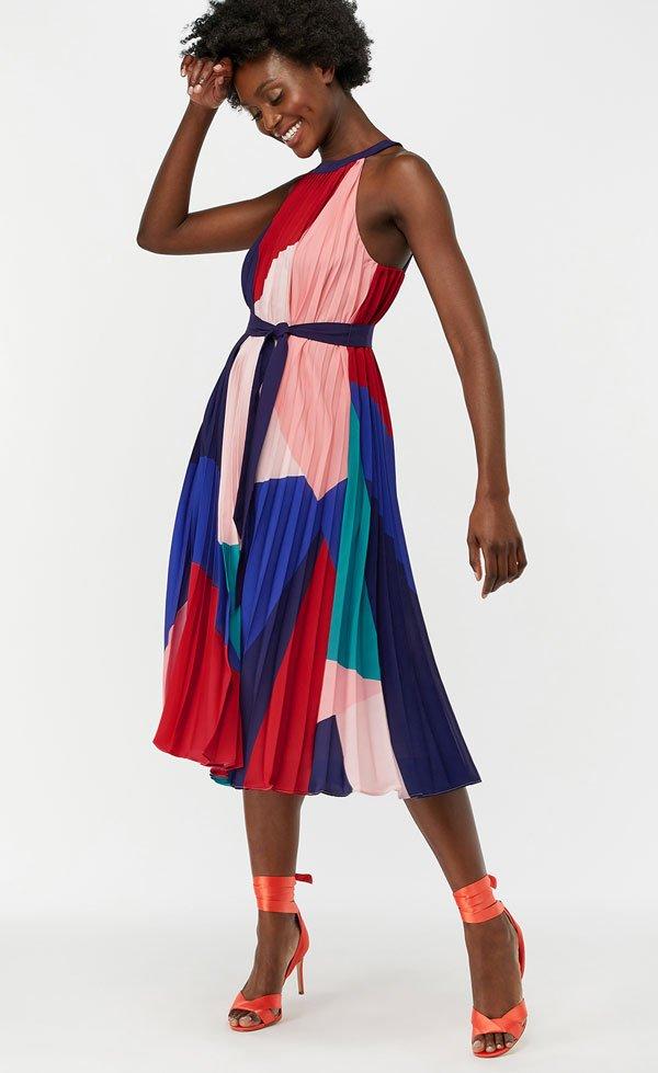 Monsoon Coco Print Pleat Midi Dress (Hey Pretty Fashion Flash: Schöne Kleider für Hochzeitsgäste 2019)