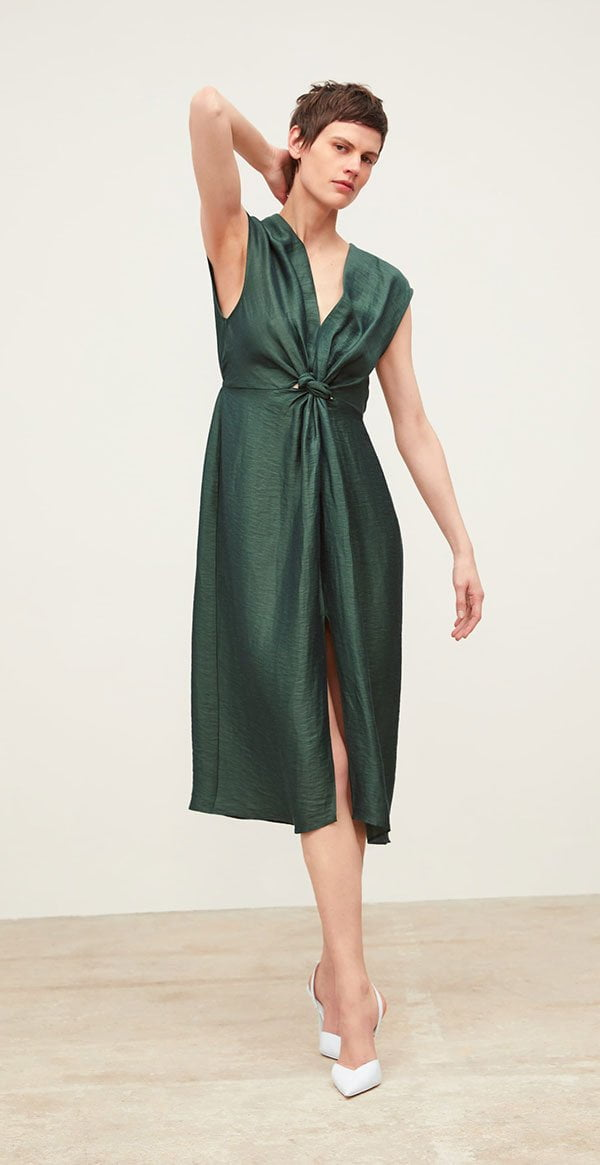 Hübsche Kleider für weibliche Hochzeitsgäste: Zara Kleid mit Knoten (Hey Pretty Fashion Flash: Best Dressed Wedding Guest)