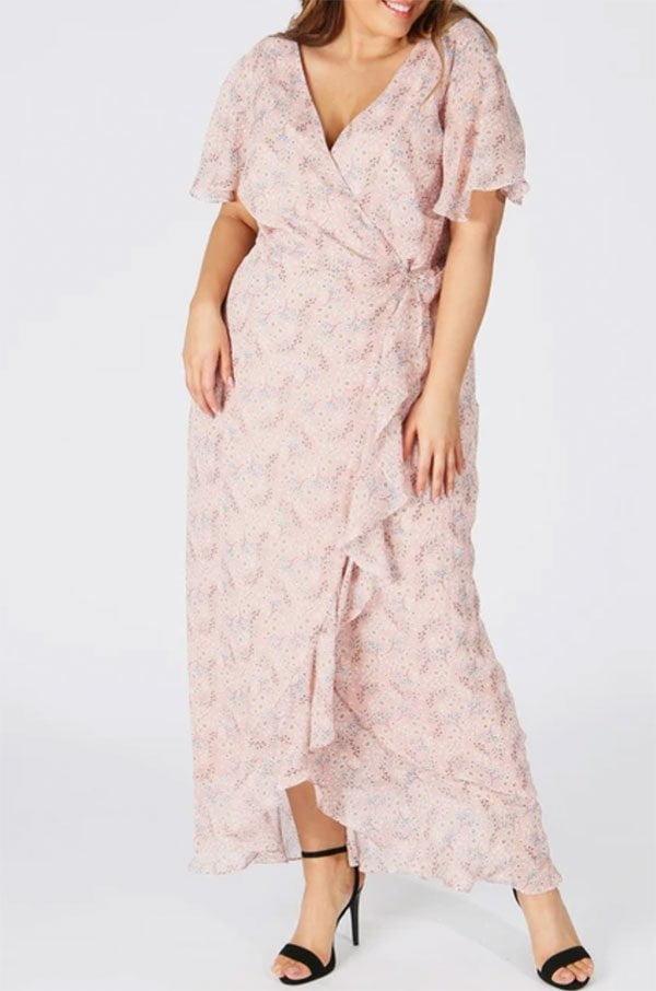 Koko by Koko Rüschenkleid Plus Size bei La Redoute (Hey Pretty Fashion Flash: Kleider für Hochzeitsgäste)