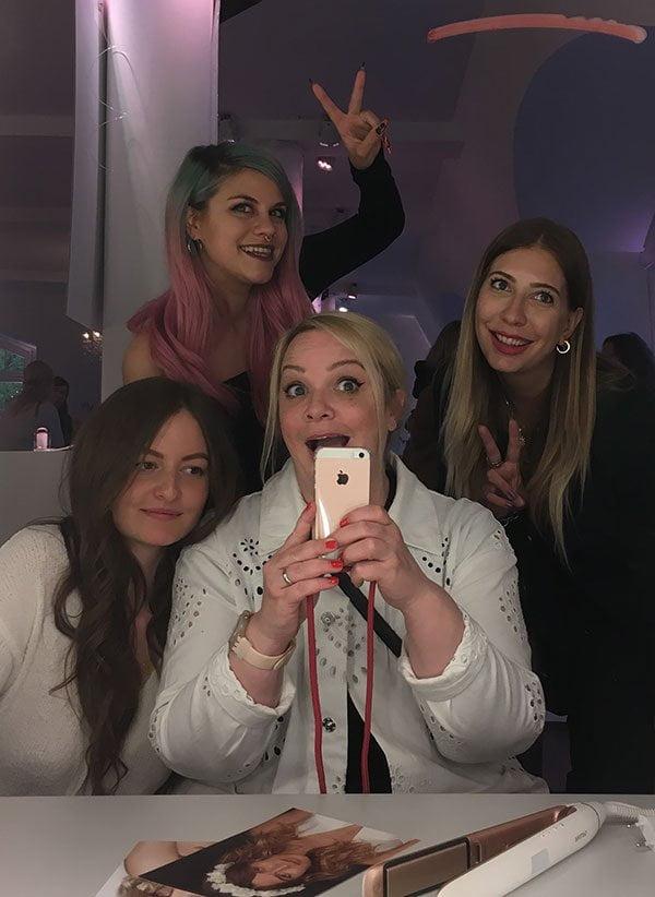 Anja Gasser, Nives Arrigoni, Steffi Hidber und Vanessa Büchel am Philips Beauty Day 2019 in Hamburg