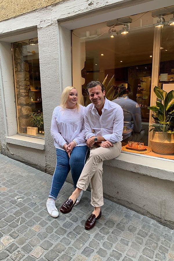 Joaquim Carner von Carner Barcelona im Gespräch mit Steffi von Hey Pretty (bei Süskind Zürich)