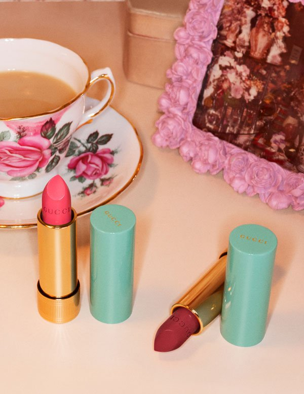 Gucci Makeup Lipstick Collection: Kampagnen-Visual (Copyright Coty/Gucci 2019), Preview auf Hey Pretty Beauty Blog