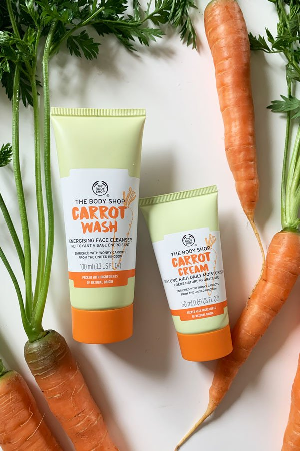 The Body Shop Carrot Cream Nature Rich Daily Moisturiser und Carrot Wash Energising Face Cleanser – Review und Gewinnspiel auf Hey Pretty Beauty Blog