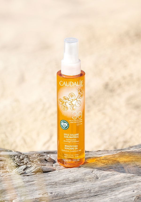 Caudalie Beautifying Suncare Oil LSF 30 (Erfahrungsbericht auf Hey Pretty Beauty Blog)