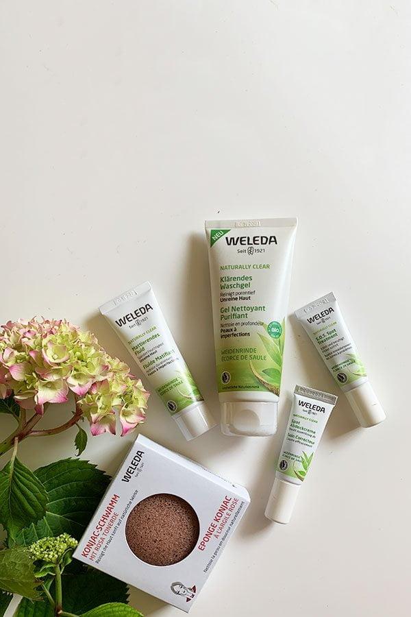 Weleda Naturally Clear Pflegeserie gegen unreine Haut – Erfahrungsbericht auf Hey Pretty Beauty Blog