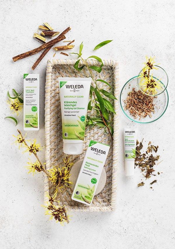 PR Image: Weleda Naturally Clear Pflegeserie gegen unreine Haut – Erfahrungsbericht auf Hey Pretty Beauty Blog