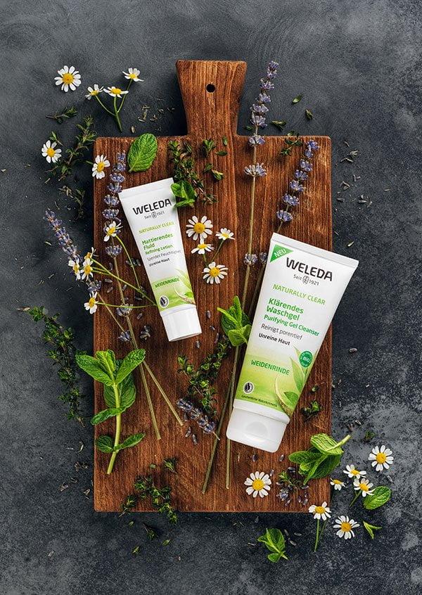 PR Image Weleda Naturally Clear Pflegelinie gegen unreine Haut (Hey Pretty Erfahrungsbericht)