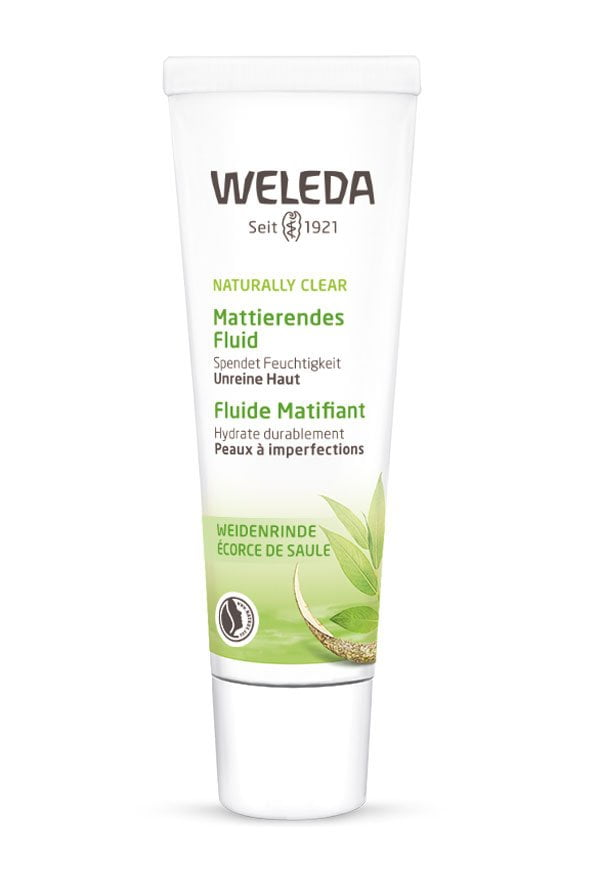 Weleda Naturally Clear Mattierendes Fluid (PR Image) – Review auf Hey Pretty Beauty Blog