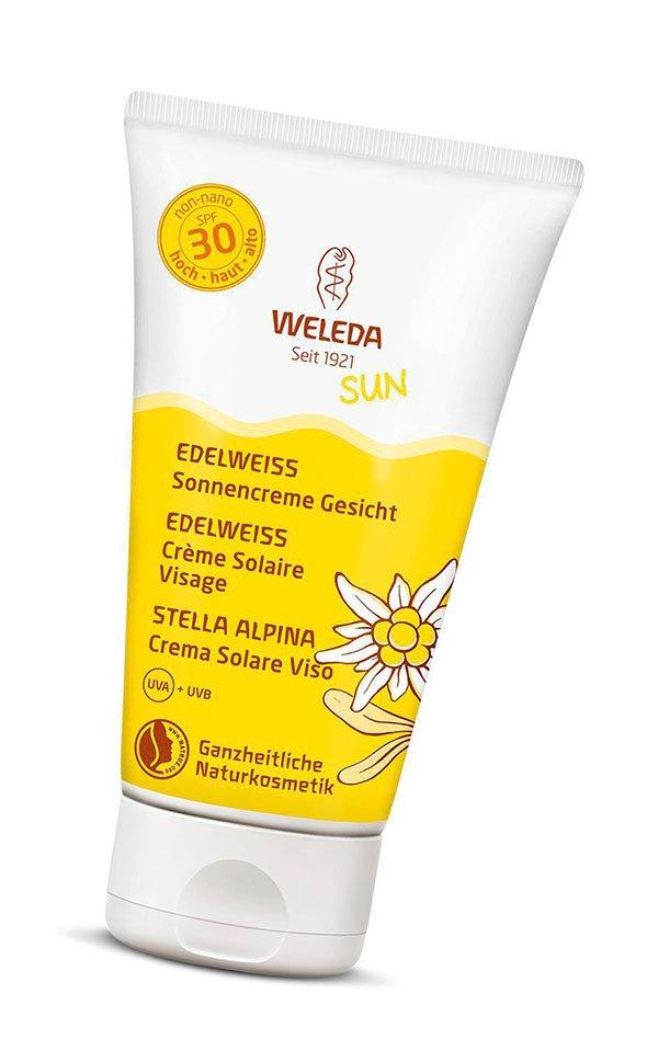 Reef Safe Sonnencremen auf Hey Pretty: Weleda Edelweiss Sonenncreme SPF 30