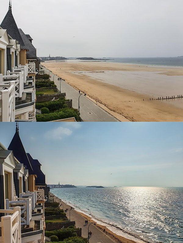 Der krasse Unterschied zwischen Ebbe und Flut in Saint-Malo, Bretagne (Hotel-Review Les Thermes Marins de Saint-Malo auf Hey Pretty)