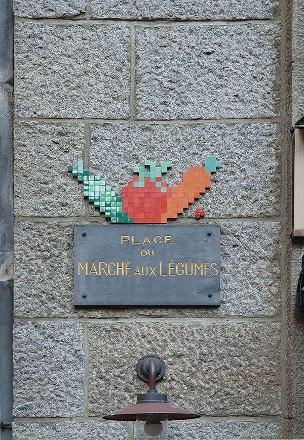 Strassenschild in Saint-Malo, Bretagne