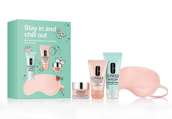 Die besten Beauty-Reisegrössen 2019: Clinique Stay In and Chill Out Skincare Set (Hey Pretty Beauty Blog)