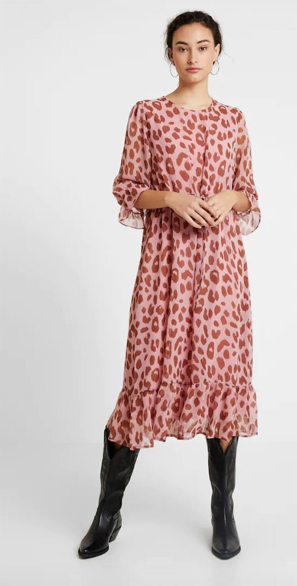 YAS Yasmoo 3/4 Dress mit Animal Print (bei Zalando) – Hey Pretty Fashion Flash Herbst 2019
