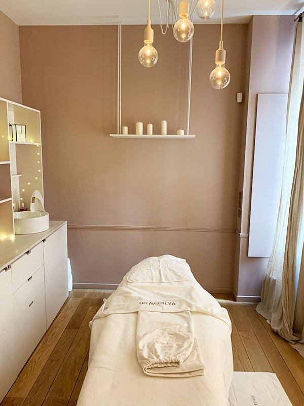 Treatment-Raum bei Oh My Cream! Paris 7 an der Rue du Bac (Spa Review auf Hey Pretty Beauty Blog)