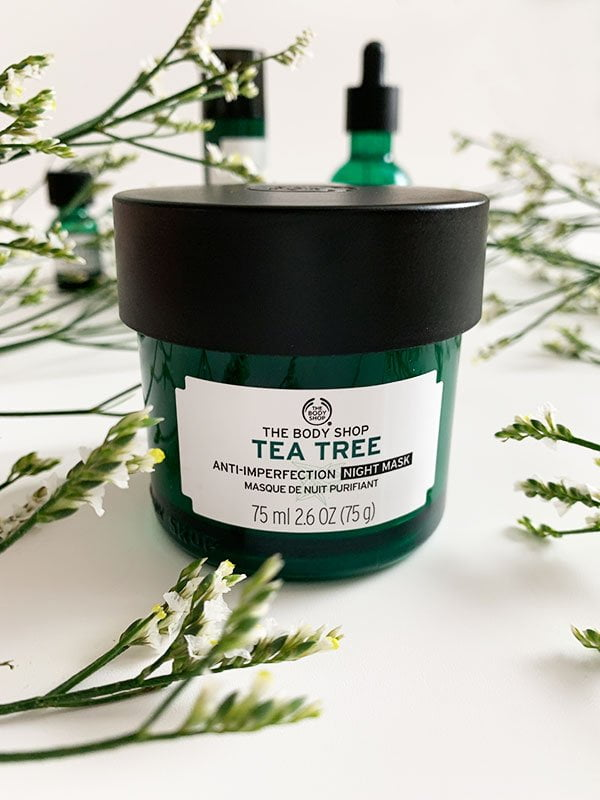 Erfahrungsbericht The Body Shop Tea Tree Anti-Imperfection Night Mask (inklusive Giveaway) auf Hey Pretty