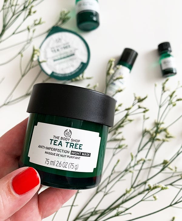 Gewinnspiel The Body Shop Tea Tree Overnight Mask auf Hey Pretty Beauty Blog (die Must-Haves von The Body Shop inklusive Erfahrungsbericht)