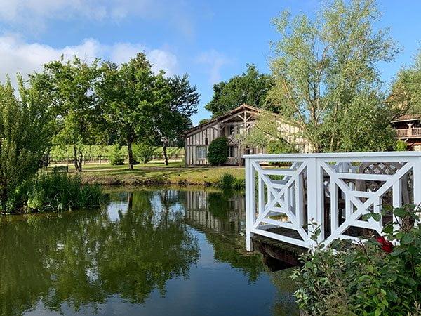 Erfahrungsbericht Les Sources de Caudalie – Spa Hotel in Bordeaux (Frankreich), Parkanlage des Hotels