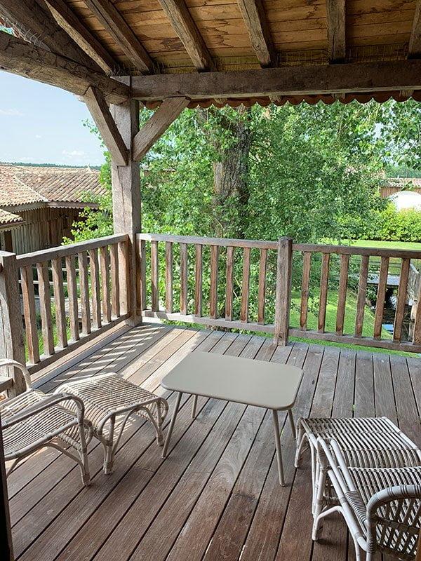 Balkon der Junior Suite Le Mimbeau im Village des Pecheurs, Les Sources de Caudalie Hotel und Spa in Bordeaux (Hey Pretty Beauty Blog Review)