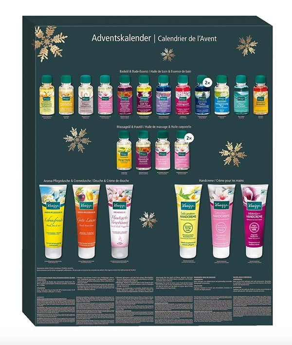 Kneipp Adventskalender 2019, Inhalt (Die ultimative Übersicht der besten Beauty Adventskalender 2019 auf Hey Pretty Beauty Blog)