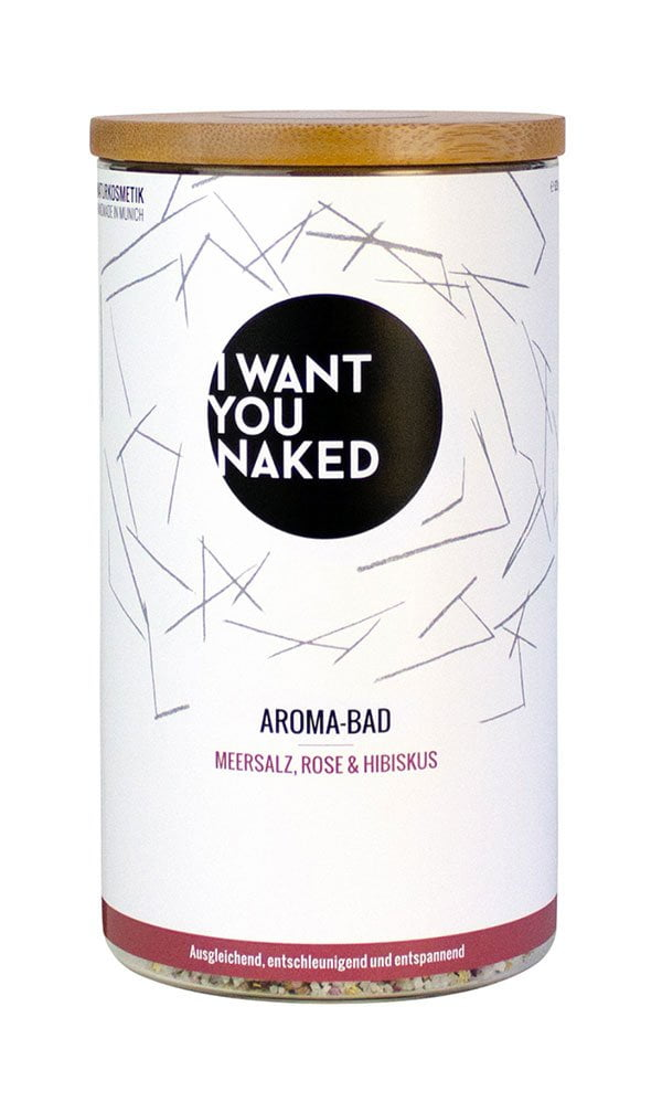 8 Bade-Treats für den Winter: I Want You Naked Aromabad Meersalz, Rose & Hibiskus (Hey Pretty Beauty Blog Review)
