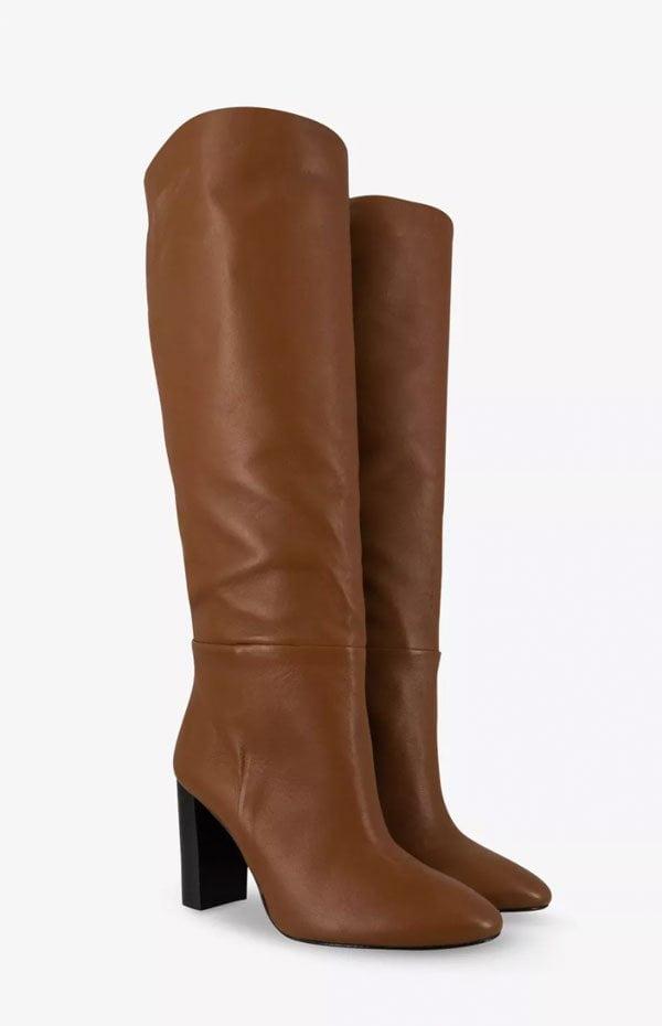 Cognacfarbene Lederstiefel mit hohem Schaft von Globus (Hey Pretty Fashion Flash: Boots, Boots, Boots!