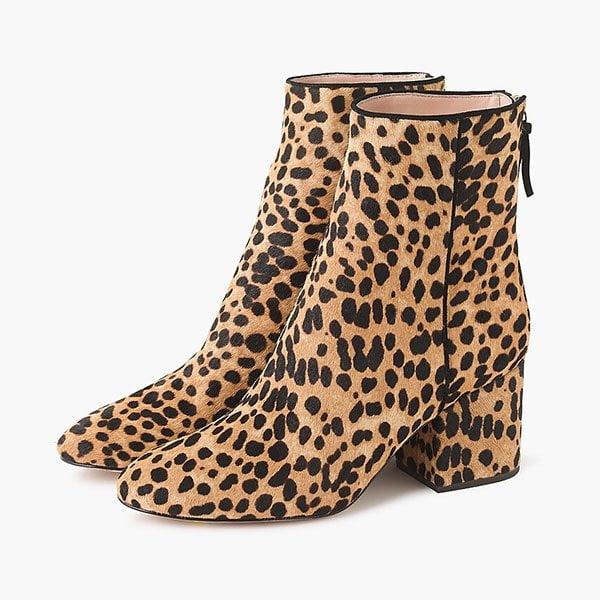 Sadie Ankle Boots in Leoparden-Calfskin von J. Crew (Hey Pretty Fashion Flash: Die besten Herbstboots 2019)