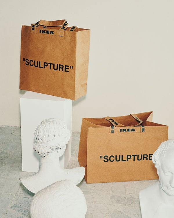 Preview: IKEA MARKERAD Tragtasche «Sculpture», designed by Virgil Abloh (Hey Pretty Beauty Blog, November 2019)
