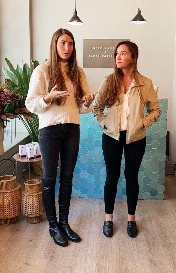 Allison und Jacqueline Taylor, Gründerinnen von Le Prunier (Launch bei Green Lane in Zürich mit Hey Pretty)