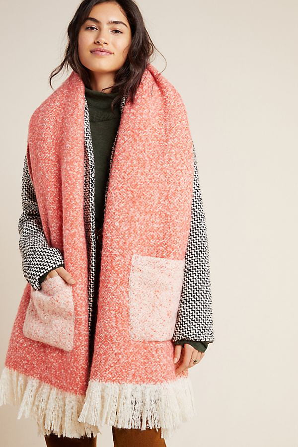 Pocketed Boucle Scarf by Anthropologie (Hey Pretty Fashion Flash)