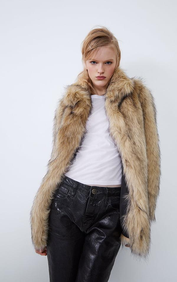 Jacke aus Kunstpelz von Zara (Hey Pretty Fashion Flash: Einkuscheln, aber sofort!)