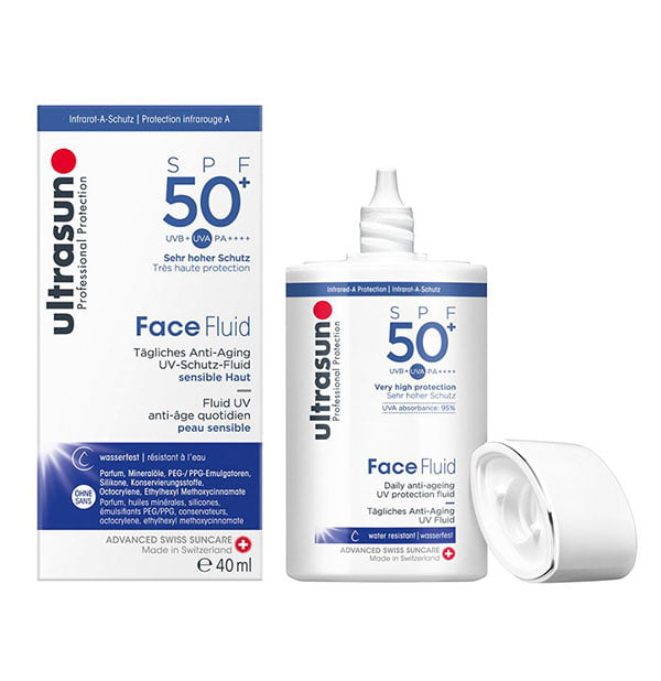 Ultrasun Face Fluid SPF 50+ (Hey Pretty Beauty-ABC: Erschwingliche Must-Haves der Gesichtspflege)