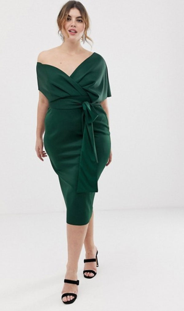 ASOS Curve Bleistiftkleid in Grün (Hey Pretty Fashion Flash: Alles auf Grün – Januar 2020)