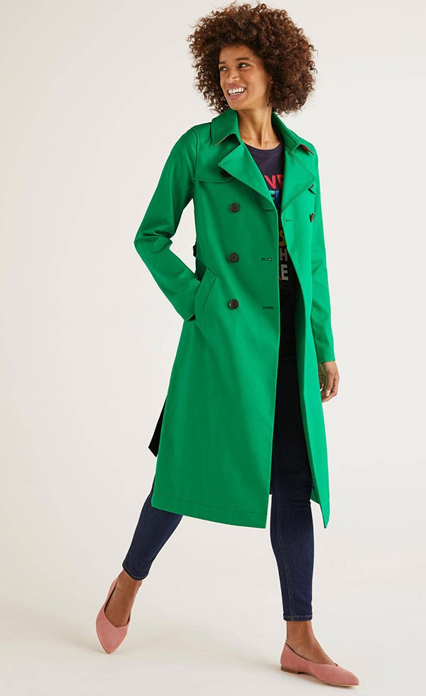 Franklin Trench Coat von Boden in Smaragdgrün (Hey Pretty Fashion Flash Januar 2020: Alles auf grün!)