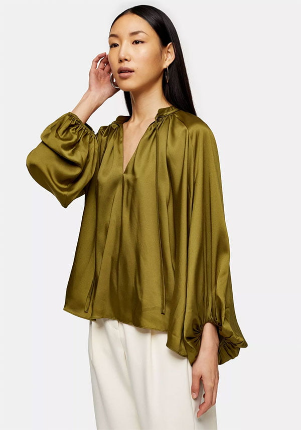 Khaki Smock Top von Topshop (Hey Pretty Fashion Flash: Alles auf Grün!)