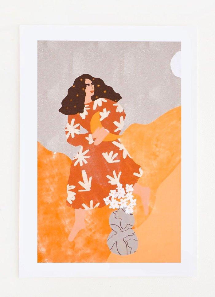 «I Stole The Moon»Print von Leifshop (USA), Hey Pretty Dekoideen für den Frühling, die nicht viel kosten