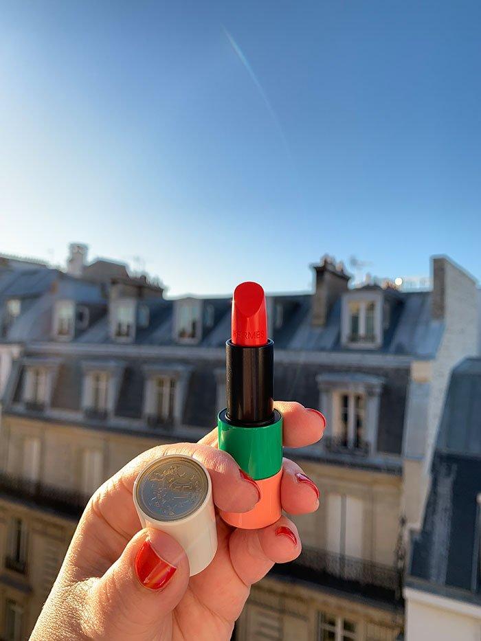 Rouge Hermès– die neuen Lippenstifte und Launch der Hermès Beauté Welt in Paris im Februar 2020 – Hey Pretty Beauty Blog Schweiz
